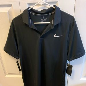 Nike Black Drifit Polo Mens size Medium